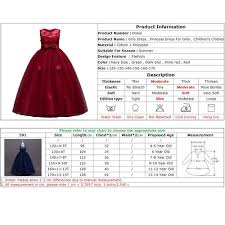 4 Year Girl Dress Size Chart Kids Dresses For Girls Clothes Summer Girls Dress Elegant Vestidos Child Party Princess Dress Teenagers Wedding Dress Vova