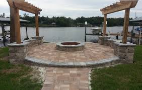 concrete patio with fire pit. Attractive Concrete Patio Ideas With Fire Pit Pictures Landscaping G