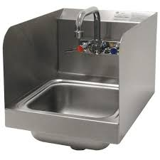 advance tabco 7 ps 56 space saving hand sink with side splash guards 12 x 16
