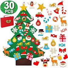 OurWarm 3ft DIY Felt Christmas Tree with 30pcs ... - Amazon.com