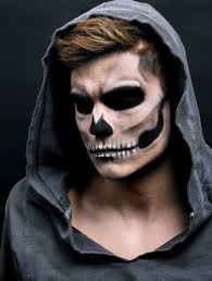 rather natural skull makeup for men looks really y and harsh