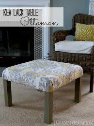 Diy Coffee Table Ottoman Ikea Hack Ottoman Tutorial Infarrantly Creative