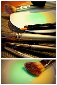 get your makeup brushes clean with antibacterial soap and a tiny bit of olive oil or oil of your choice to keep bristles soft