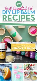 20 diy lip balm recipes essential oils