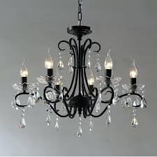 black iron candle chandelier fashion vintage castle style hanging for home in chandeliers from lights wrought