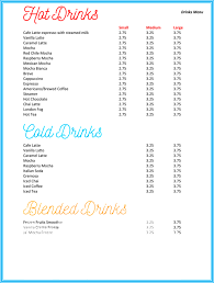 Ms Word Menu Templates Drink Menu Template 5 Best Drink Menu Formats
