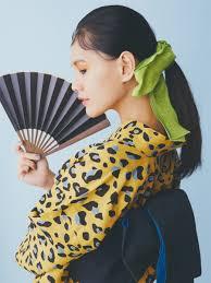 浴衣のヘアアレンジはリボンとモードな前髪で決まりbeauty Workshop