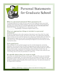 Grad School Essays Sample Personal Statements Graduate School Personal Statements For