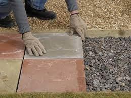 laying a paving slab path 5 paving