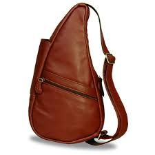 ameribag classic leather healthy back bag tote cognac