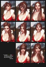 Skyrim Hair Style Mod female hairstyles with physics at skyrim nexus mods and munity 2559 by wearticles.com