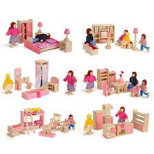 dolls furniture set. Online Shop Wooden Miniature Dollhouse Furniture Toys Set Bedroom Kitchen Dinner Room Bathroom Living Pretend Play Toy For Girl M09 | Aliexpress Mobile Dolls R
