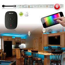 smartphone controlled lighting. Control Lighting With Iphone. 180 Led Smart Home Party Ambient Kit Ios Android Million Smartphone Controlled O