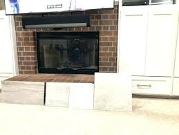 refacing brick fireplace with tile marble reface wood ma