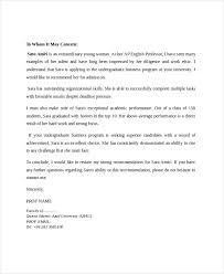 recommendation letter for professor professor letter of recommendation template 7 reference letter for