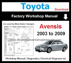 Toyota Avensis Workshop Service Repair Manual Download - DOWNLOAD ...