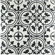 Black And White Pattern Tile Cool Clairence 4848 X 4848 Porcelain Field Tile In BlackWhite Joss
