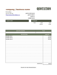 Services Quotation Template Sample Quotation Format For Fabrication Work Template