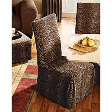 overstock leopard dining room chair slipcovers set of 2 indulge in your wild side with leopard print slipcoversdining chair covers let you change