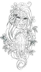 Day Of The Dead Coloring Sheets Sugar Skull Day Of The Dead Coloring