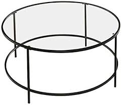 round black coffee table. Sauder Soft Modern Round Coffee Table, Black/Clear Glass Round Black Coffee Table B