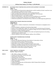 Process Engineer Resume Sample Semiconductor Process Engineer Resume Samples Velvet Jobs 2