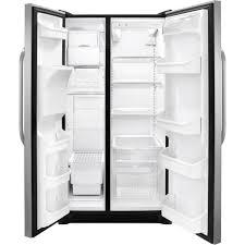 Top Ten Side By Side Refrigerators Amazoncom Frigidaire Ffss2614qs 36 Side By Side Refrigerator