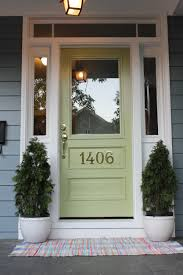 Wythe Blue Sherwin Williams Modern Exterior Design Ideas Green Front Doors Front Doors And