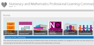 plc education numeracy and maths professional learning community highland