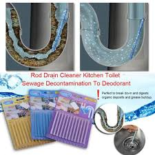 12pcs set natural rod drain cleaner kitchen toilet bathtub cleaning tool