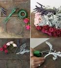 Как сделать из венок из живых цветов