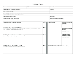 Daily Lesson Plan Template For Common Core Teachers This Free ...