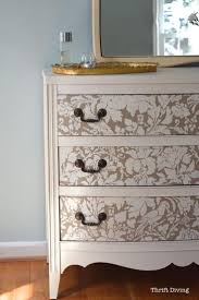 3 elegant white and gold stencil furniture painting ideas 319 ideas