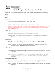 Citation Examples Mla Format Based On 7th Ed Fill Online Printable