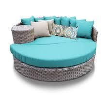 oasis circular sun bed outdoor wicker