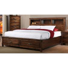 Rustic Brown King Size Storage Bed - Jessie | RC Willey Furniture Store