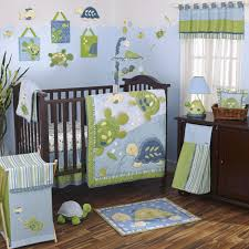 cocalo 8 piece baby crib bedding set sea green and aqua