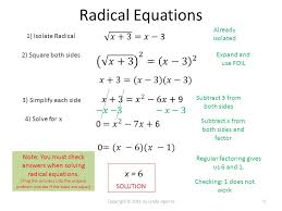 9 radical equations