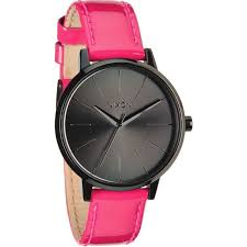 nixon kensington leather watch a1081394 women s bright pink patent