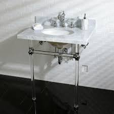 Acrylic Bathroom Sink Kingston Brass Kvpb30ma1 Fauceture Templeton Vanity And Sink With