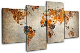 >world map wall art canvas every beauty talks household world map  world map wall art canvas