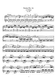 mozart piano sonata sheet music piano sonata no 16 all movements scanned piano sheet music