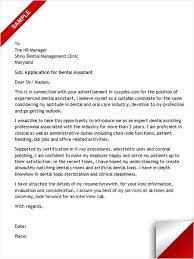 Dental Assistant Cover Letter Sample Cover Letter Sample