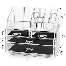 unique home new design bottom layer increase fits most conceal acrylic makeup organizer and cosmetic make