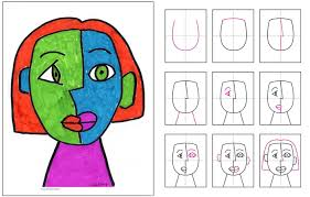 grade cubism picasso and portraits art lessons