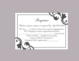 Wedding Rsvp Template Free Magdalene Project Org