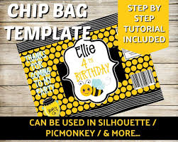 Design Your Own Potato Chip Bag Blank Chip Bag Template Silhouette Chip Bag Template
