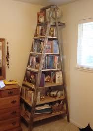 Mesmerizing Old Wooden Ladder Bookshelf Pics Inspiration