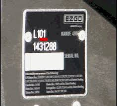 ezgo serial number guide golf car catalog ezgo serial location ezgo serial plate