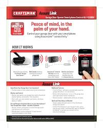 craftsman assure link garage door opener smartphone control kit no